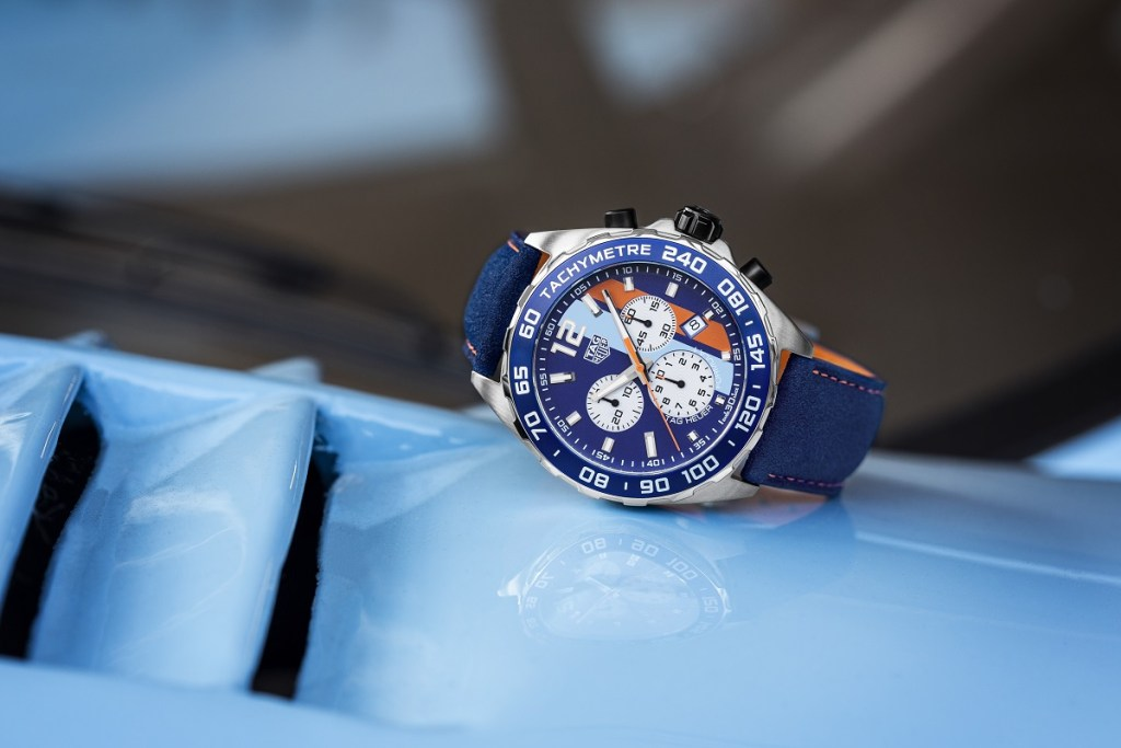 854ea1d23b8 Continuing on that action comes TAG Heuer with the TAG Heuer Formula 1 Gulf  Special Edition replica ...