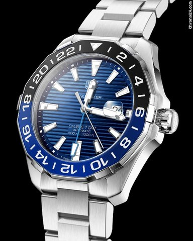 Introducing The 2020 New TAG Heuer Aquaracer GMT Blue Dial Watch Replica