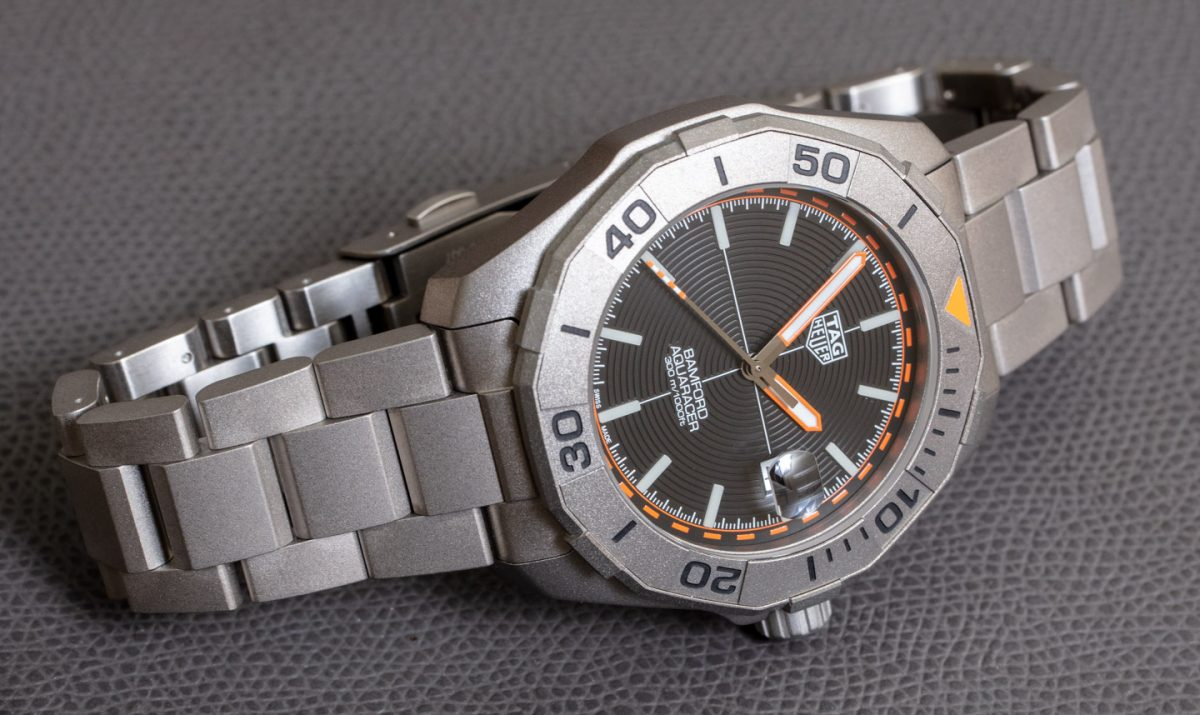 TAG Heuer Aquaracer x Bamford Titanium 43 mm Watch Replica Review