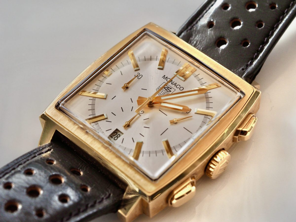 Review the First Gold Monaco – TAG Heuer Monaco 18ct Yellow Gold Chronograph Replica
